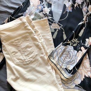 Rag & Bone Off-White Velvet Jeans